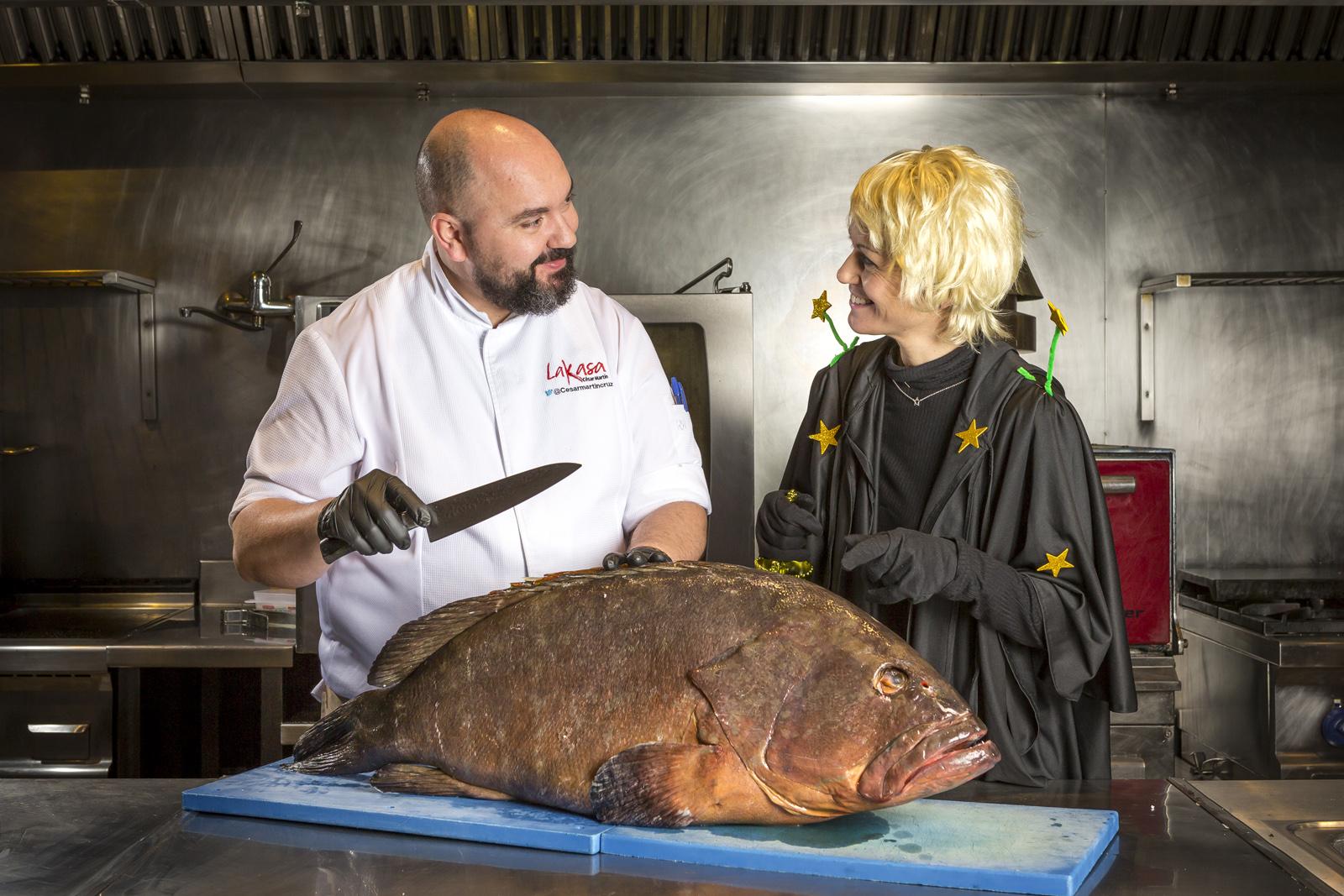 Roasted grouper