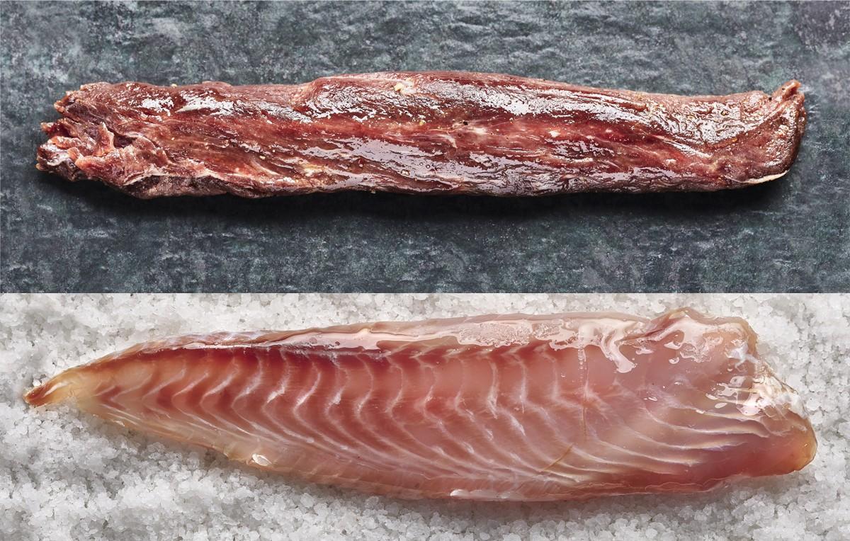"Homemade salt cured ""borriquete"" fish & iberian pork"