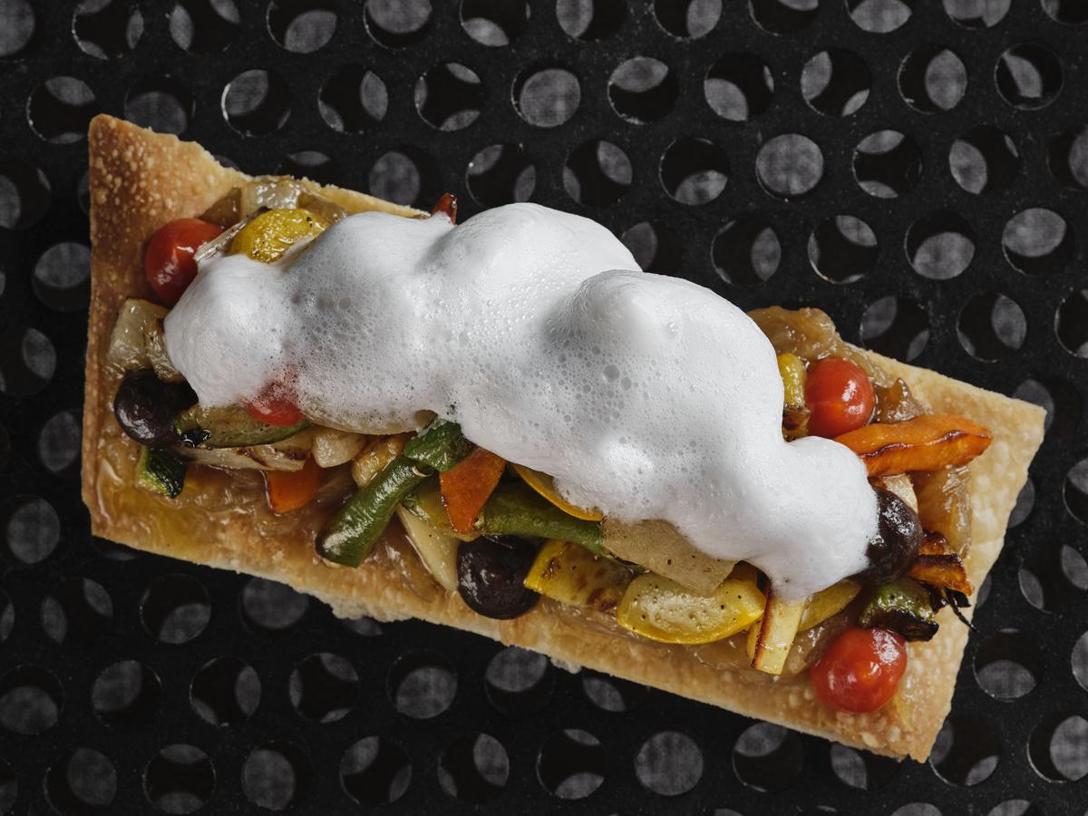 Vegetable open tart